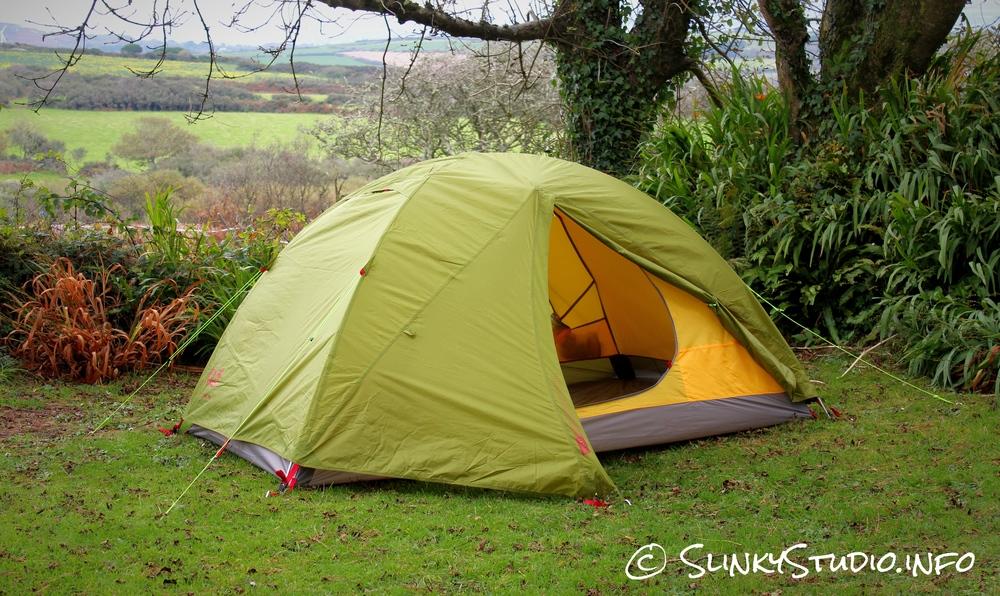 Jack Wolfskin Skyrocket III Tent Door Half Open