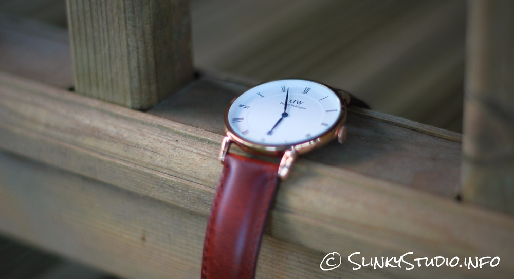 Daniel Wellington Dapper St Mawes Watch Hanging on Wood