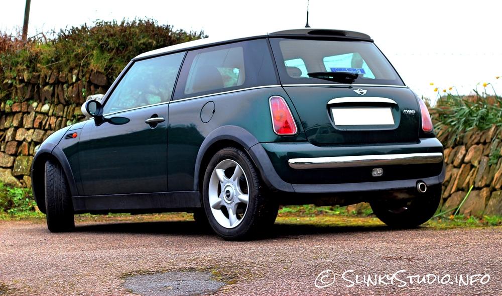 British Racing Green MINI Cooper White Roof Rear.jpg