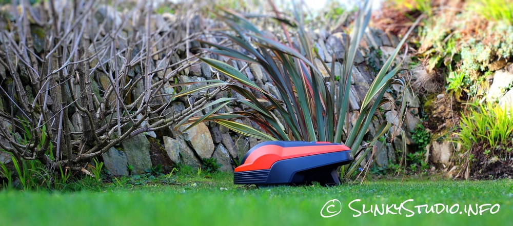 Flymo Robotic 1200R Lawnmower on a mission
