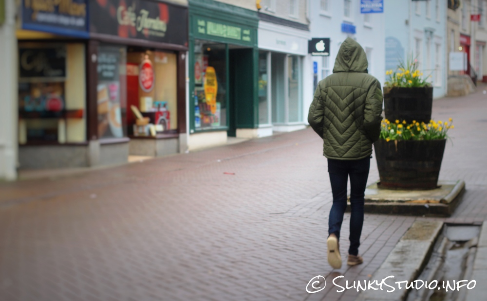 Snugpak SJ6 Jacket Walking through Truro Cornwall High Street