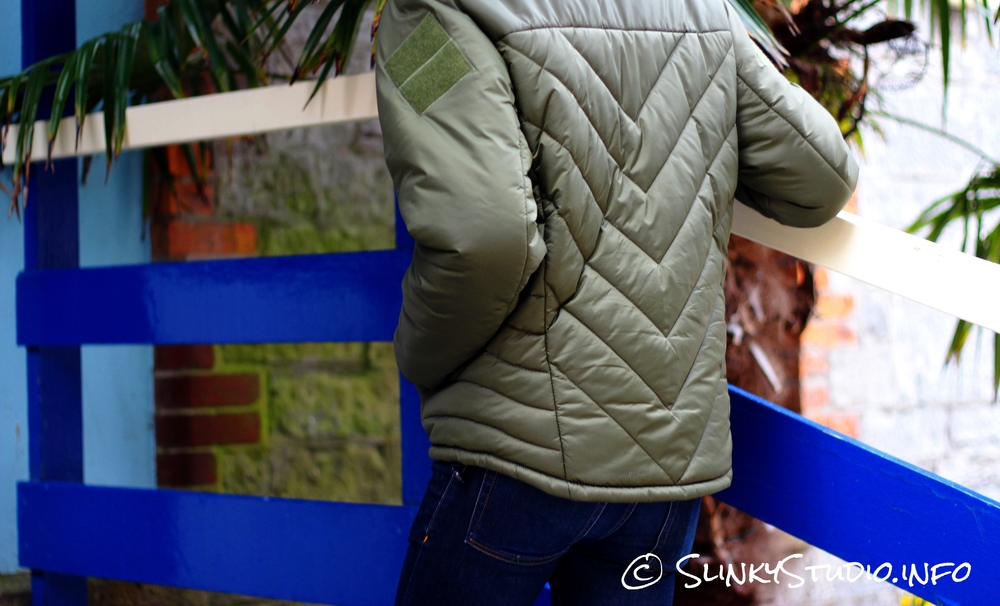 Snugpak SJ6 Jacket Walking up Stairs.jpg