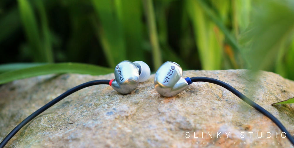 RHA T20i Earphones Housing View Laying on Rock.jpg