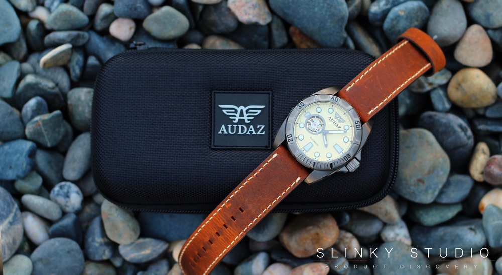 Audaz Gallant Watch & Case on Pebbles.jpg