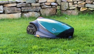 Robomow RC304 Robot Lawnmower Cutting Lawn Front View.jpg