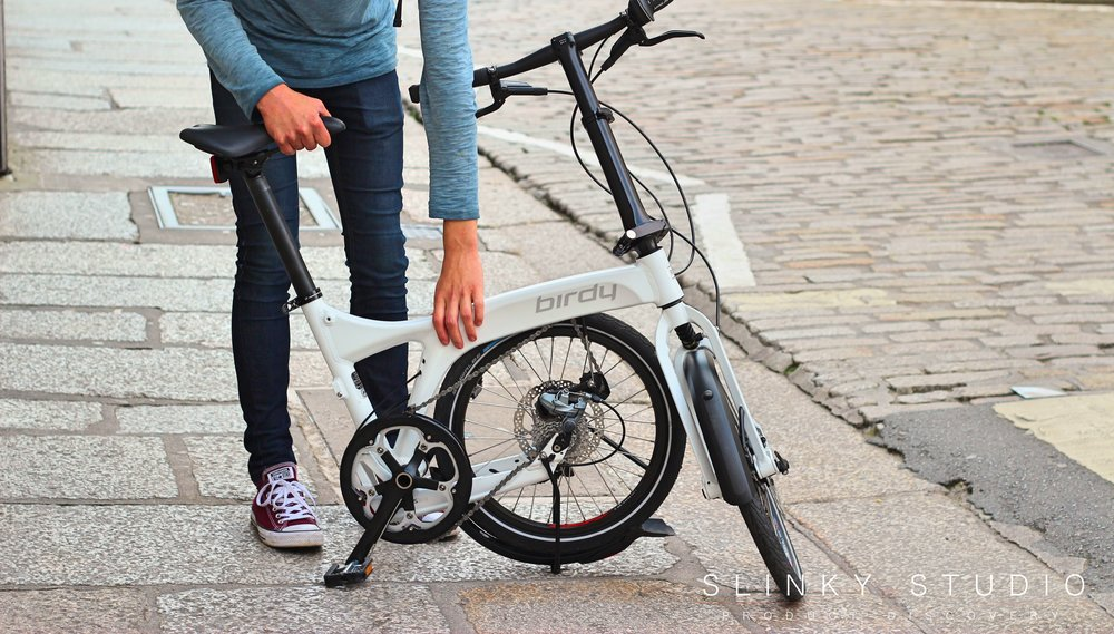Birdy Speed Folding Bike Raising Saddle Height.jpg