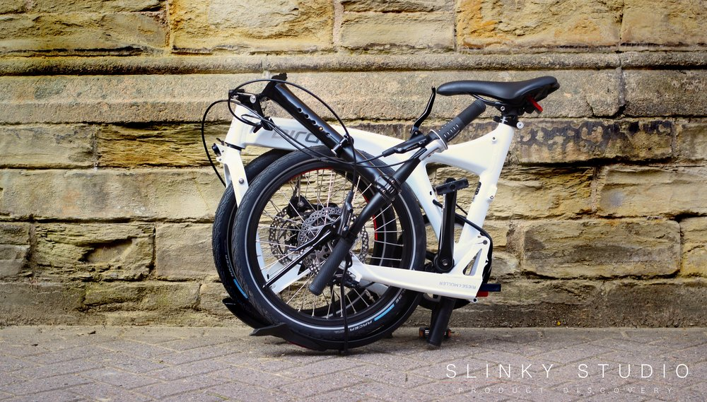 Birdy Speed Folding Bike Folded Againt Wall.jpg