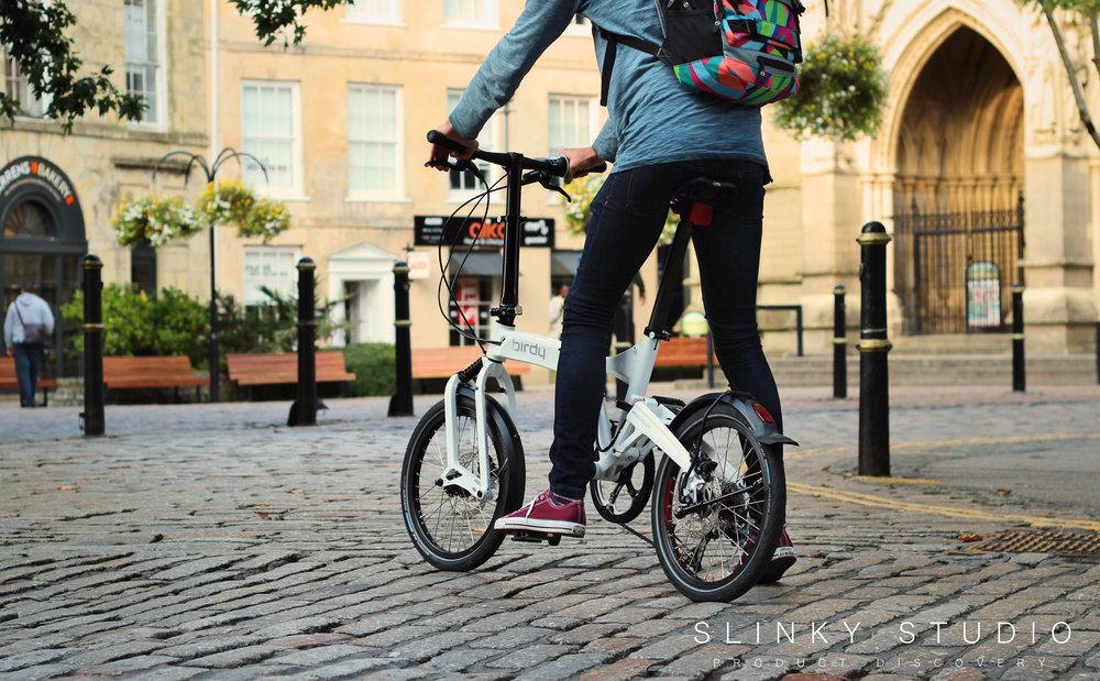 Birdy Speed Folding Bike Riding Through Cobbled Crescent.jpg