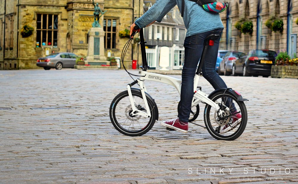Birdy Folding Bike Ridng Through Old City.jpg