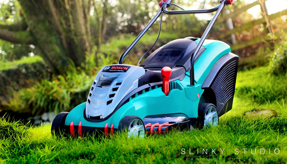 Hervorragend Bosch Rotak 43 LI Ergoflex Cordless Lawnmower Review - Slinky Studio EG25