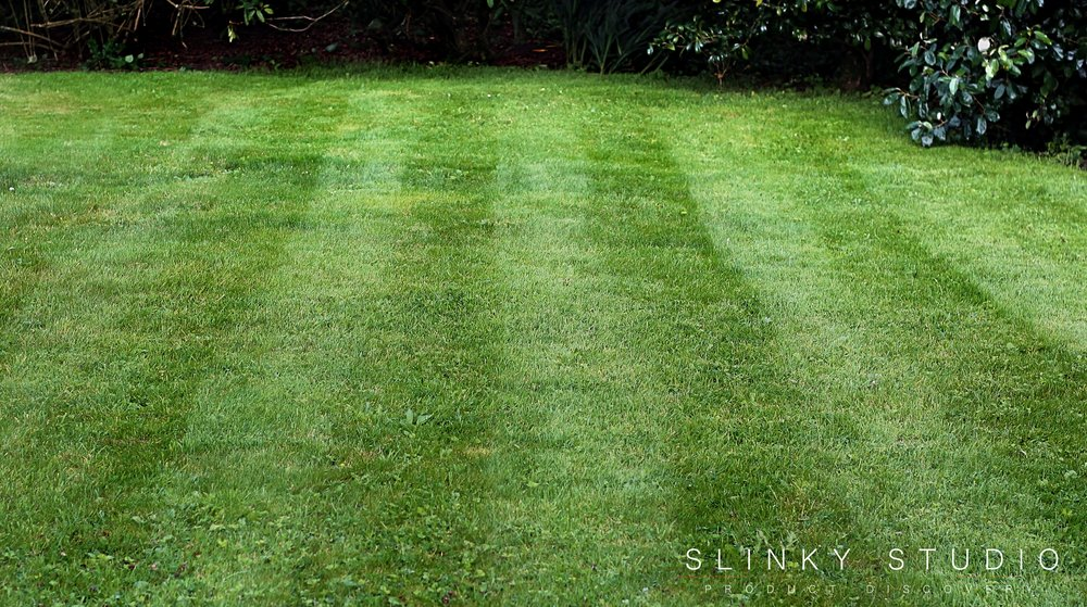 Bosch Rotak 43 LI Ergoflex Cordless Lawnmower Striped Lawn.jpg