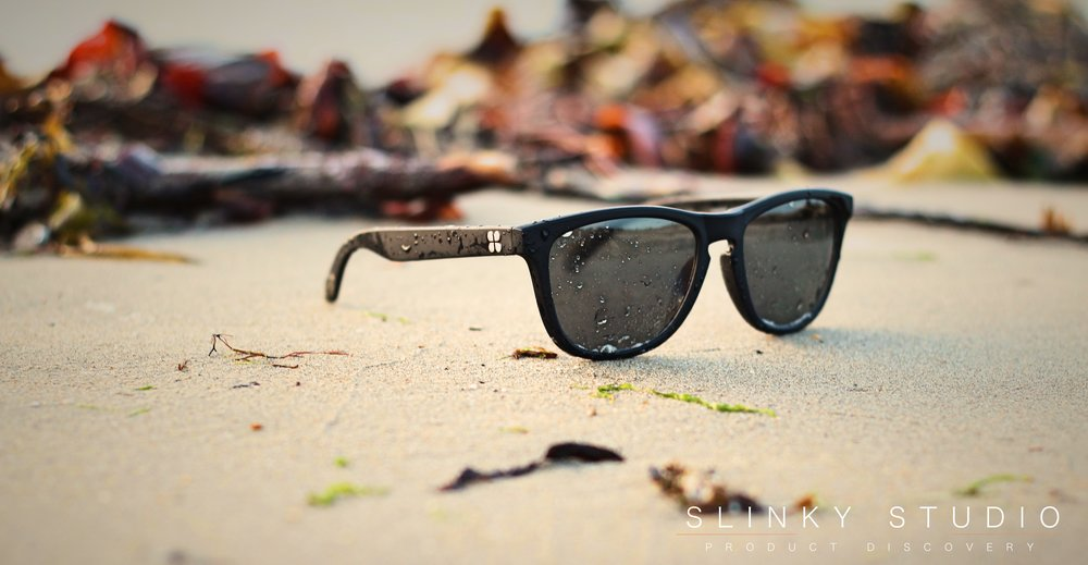 SunGod Classics² Sunglasses Wet Front View on Beach.jpg