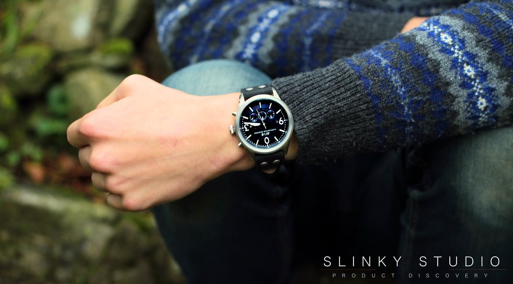 AVI-8 Lancaster Bomber Watch Leaning on Leg Sitting Down Outside.jpg