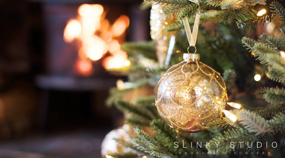 Balsam Hill Fraser Fir Christmas Tree Gold Sphere Glass Ornament Bauble Decoration.jpg
