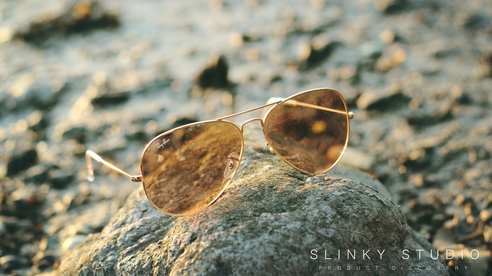 Ray Ban Aviator Sunglasses RB3025 Close Up.jpg