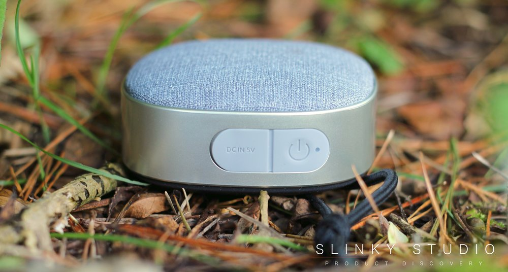 SACKit WOOFit Go Speaker On Button & Charge Port