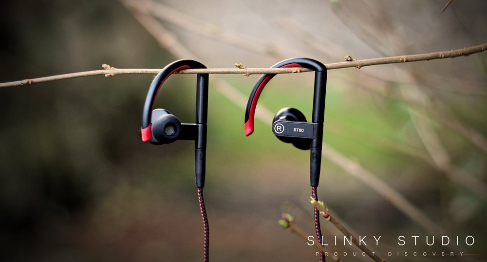 SoundMAGIC ST80 Earphones Hanging on Tree Twig Branch.jpg