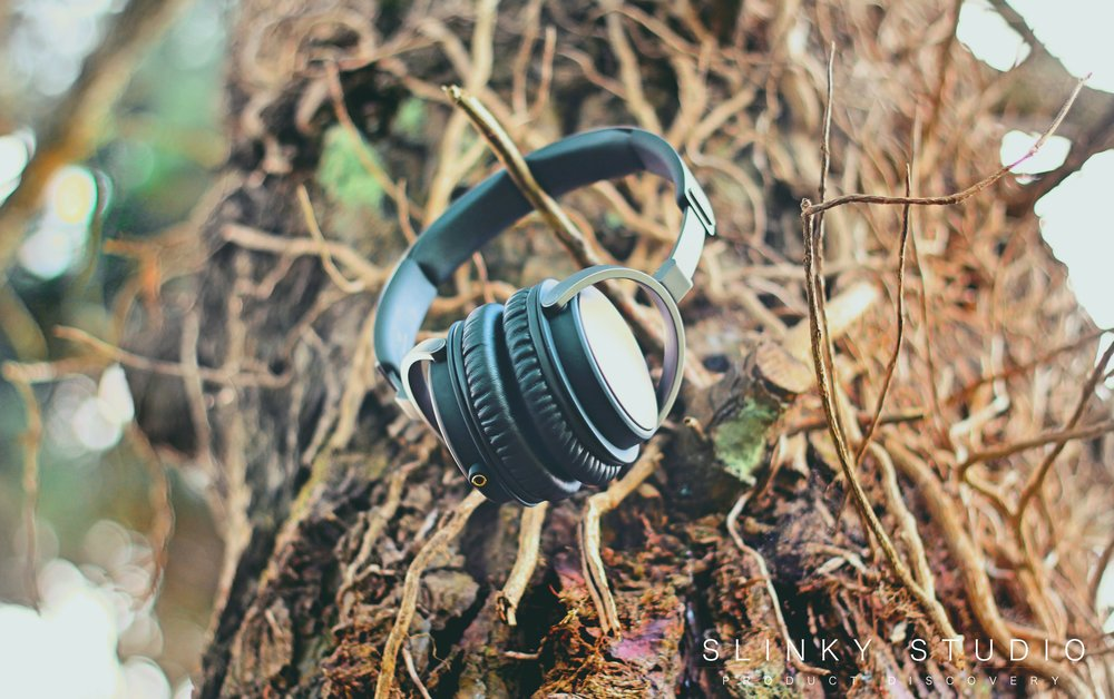 SoundMAGIC Vento P55 Headphones Hanging from Branch.jpg