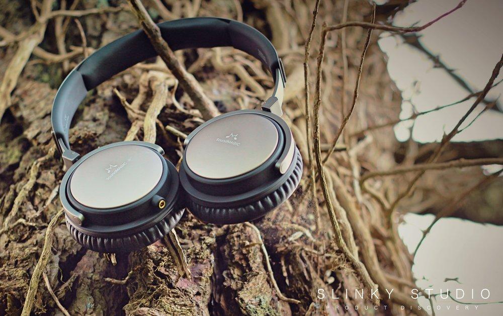 SoundMAGIC Vento P55 Headphones Hanging From Tree.jpg