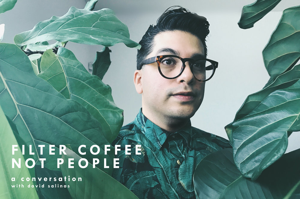 - David Salinas curates The Department of Brewology.  He is an illustrator by trade and works a great deal with typography, prints and murals.  David was on the podcast during the early episodes to talk about the good but difficult inefficiency of combining his two loves together, both art and coffee.  David does his art centered around coffee all over the world and most recently, crafted a phrase that has impact for many, WE FILTER COFFEE, NOT PEOPLE.  He stopped by to talk about what was behind the phrase for him and the vast reactions as well.  You can check out David's work at the following sites... www.departmentofbrewology.com @departmentofbrewology