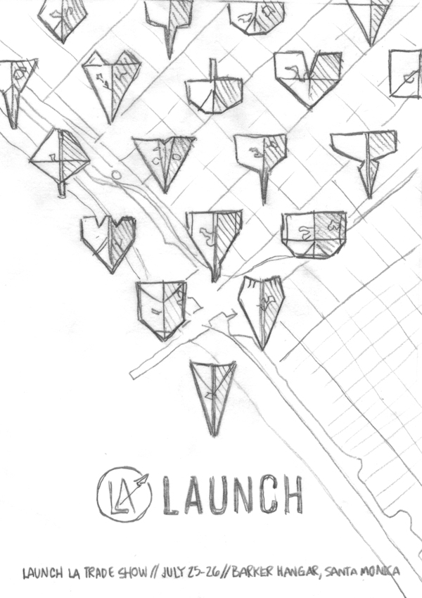 Launch LA poster sketch by DKNG
