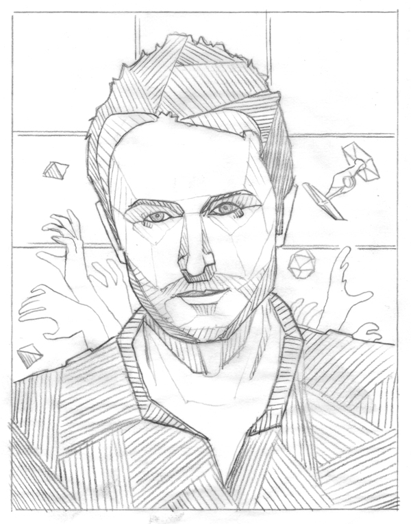 'Nerds Win!' Maxim Magazine // Chris Hardwick sketch by DKNG