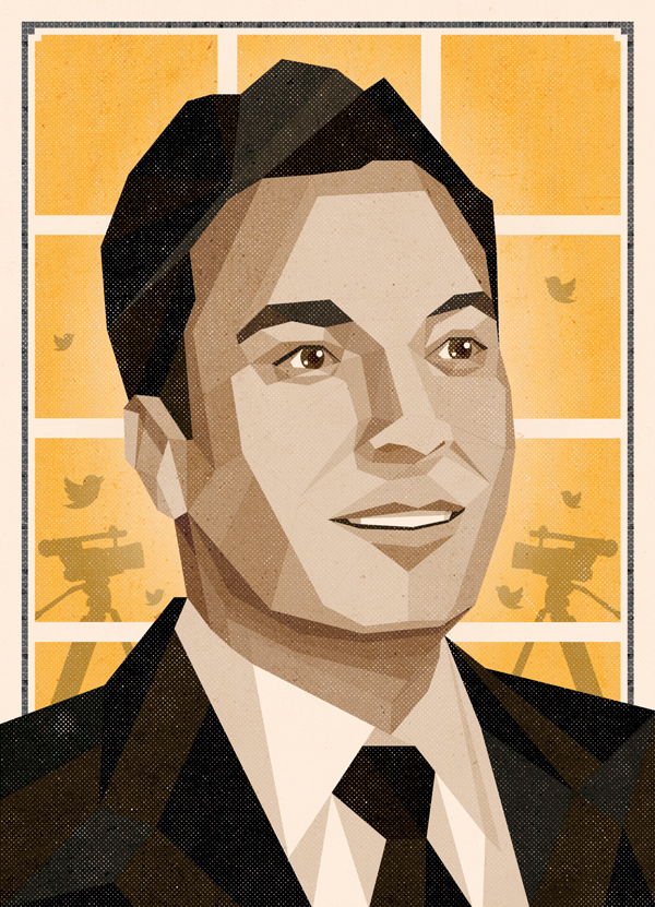 'Nerds Win!' Maxim Magazine // Jimmy Fallon illustration by DKNG