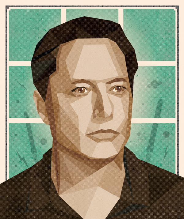 'Nerds Win!' Maxim Magazine // Elon Musk illustration by DKNG
