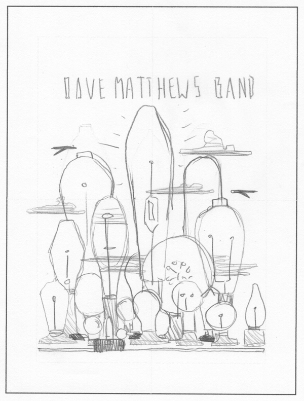 Dave Matthews Band // Scranton, PA Poster // By DKNG