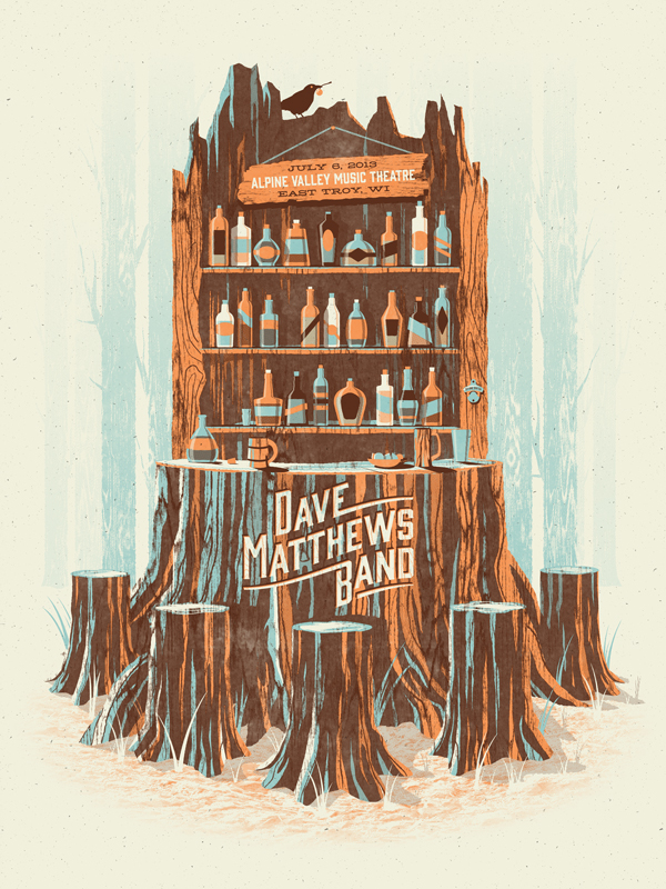 Dave Matthews Band // Alpine Valley poster by DKNG