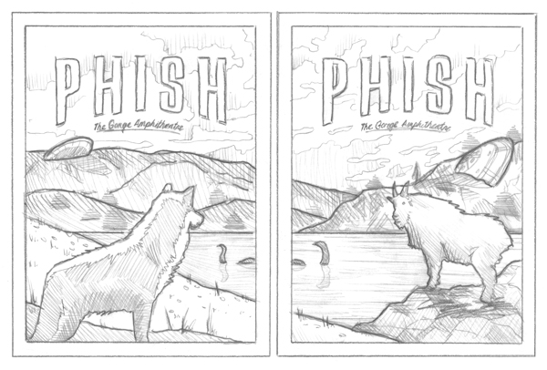Phish // George, WA posters by DKNG