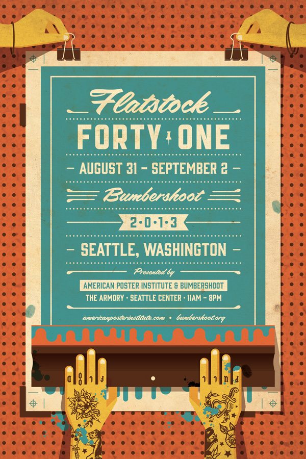Flatstock 41 Seattle // Artwork by DKNG