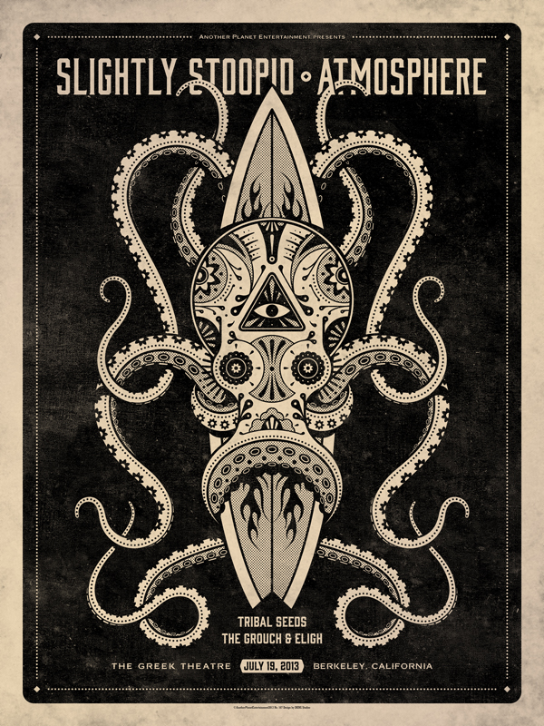 Slightly Stoopid & Atmosphere // Berkeley, CA Poster by DKNG