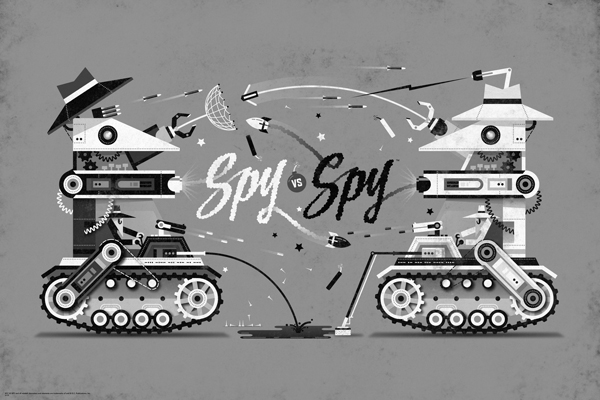 Spy vs. Spy poster by DKNG