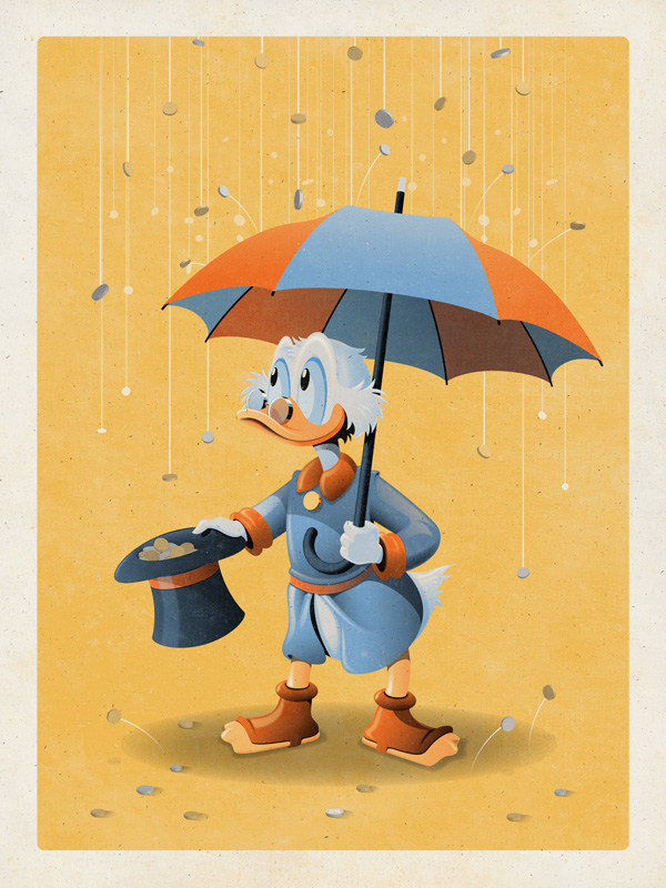 Uncle Scrooge art print by DKNG