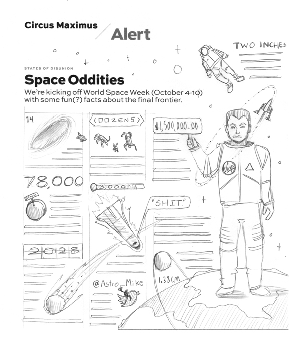 Maxim Space Oddities // Infographic by DKNG