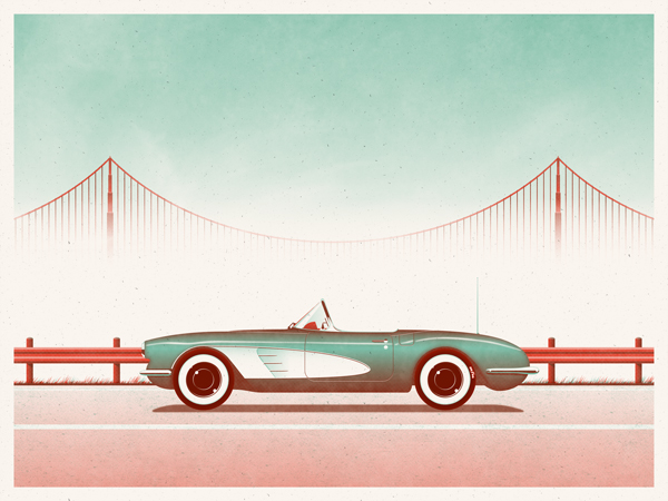 San Francisco art print by DKNG