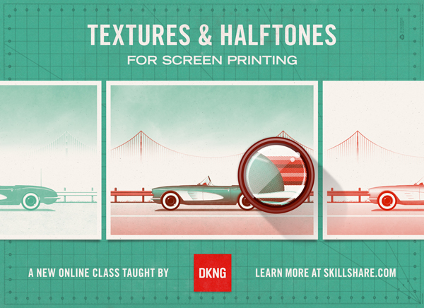 """Textures & Halftones"" an online class taught by DKNG"
