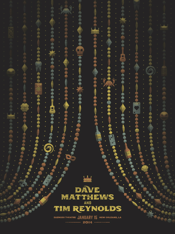 Dave Matthews and Tim Reynolds // New Orleans poster by DKNG