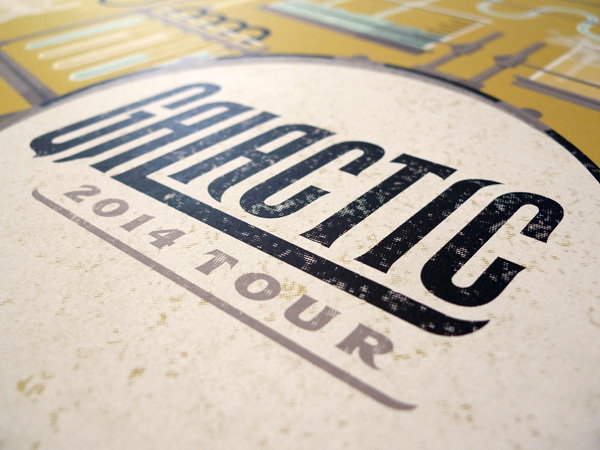 Galactic 2014 Tour Poster by DKNG