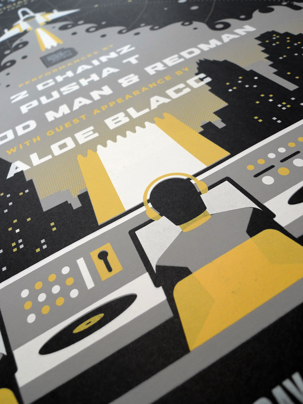 Media Temple and Def Jam at SXSW poster by DKNG