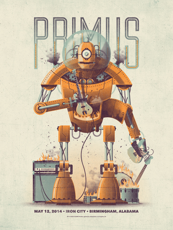 Primus // Birmingham, Alabama Poster by DKNG