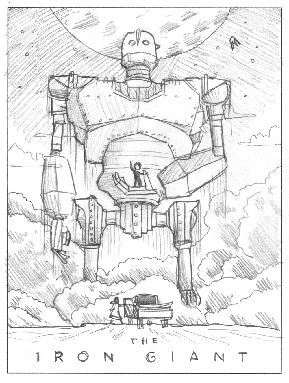 The iron giant mondo art print dkng for Iron giant coloring pages