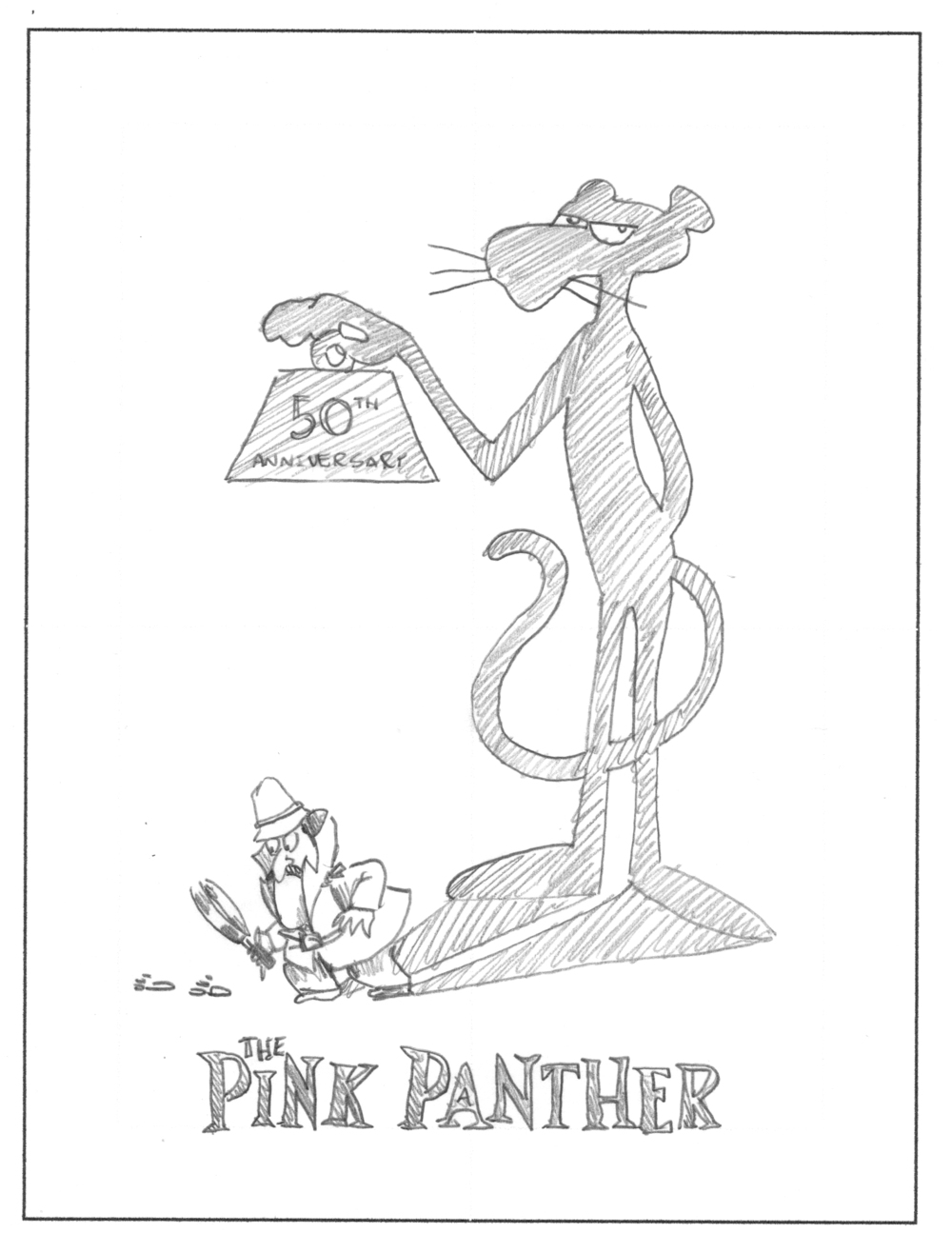 The Pink Panther 50th Anniversary Movie Poster by DKNG