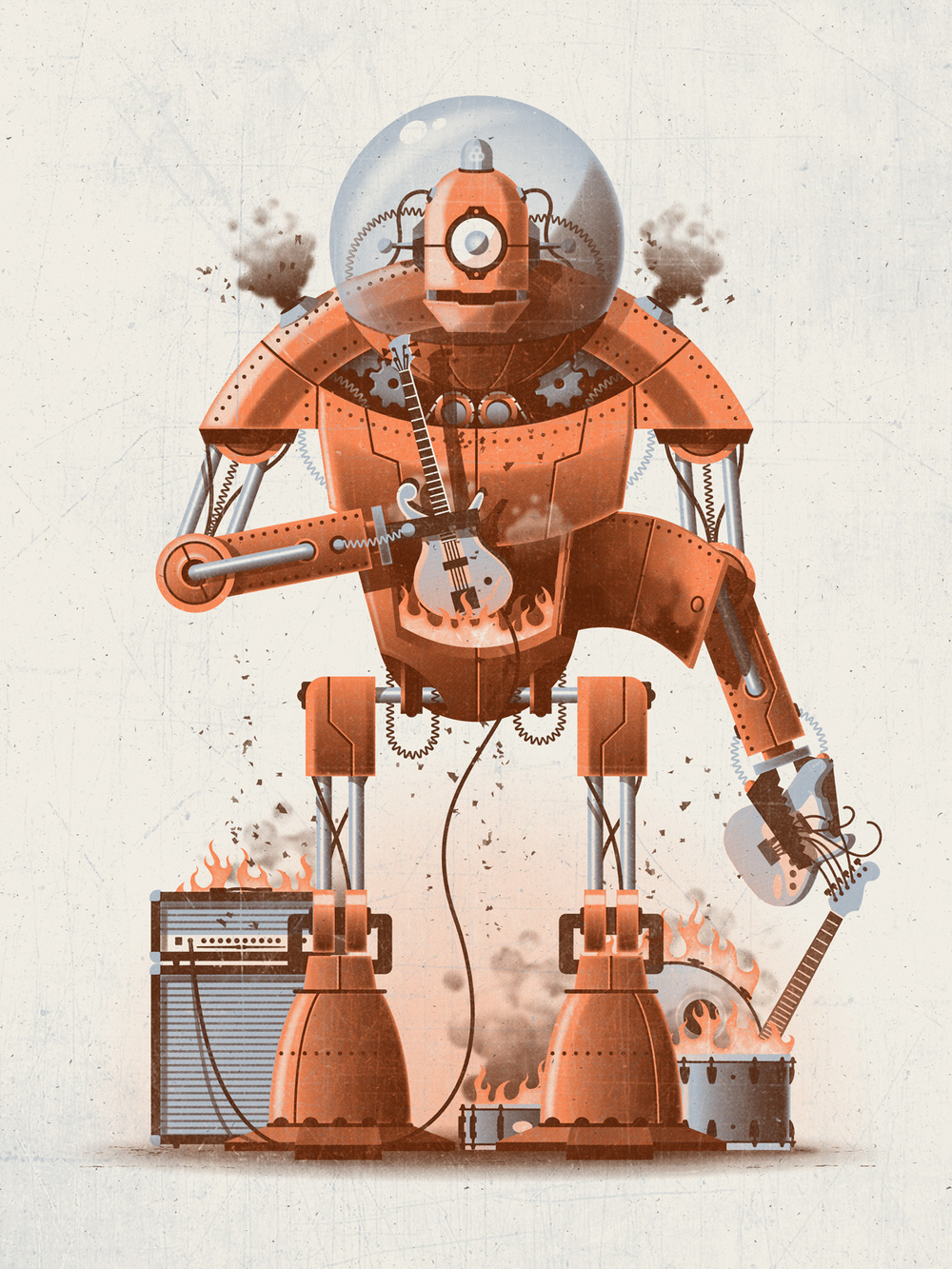 Robot Art Print by DKNG