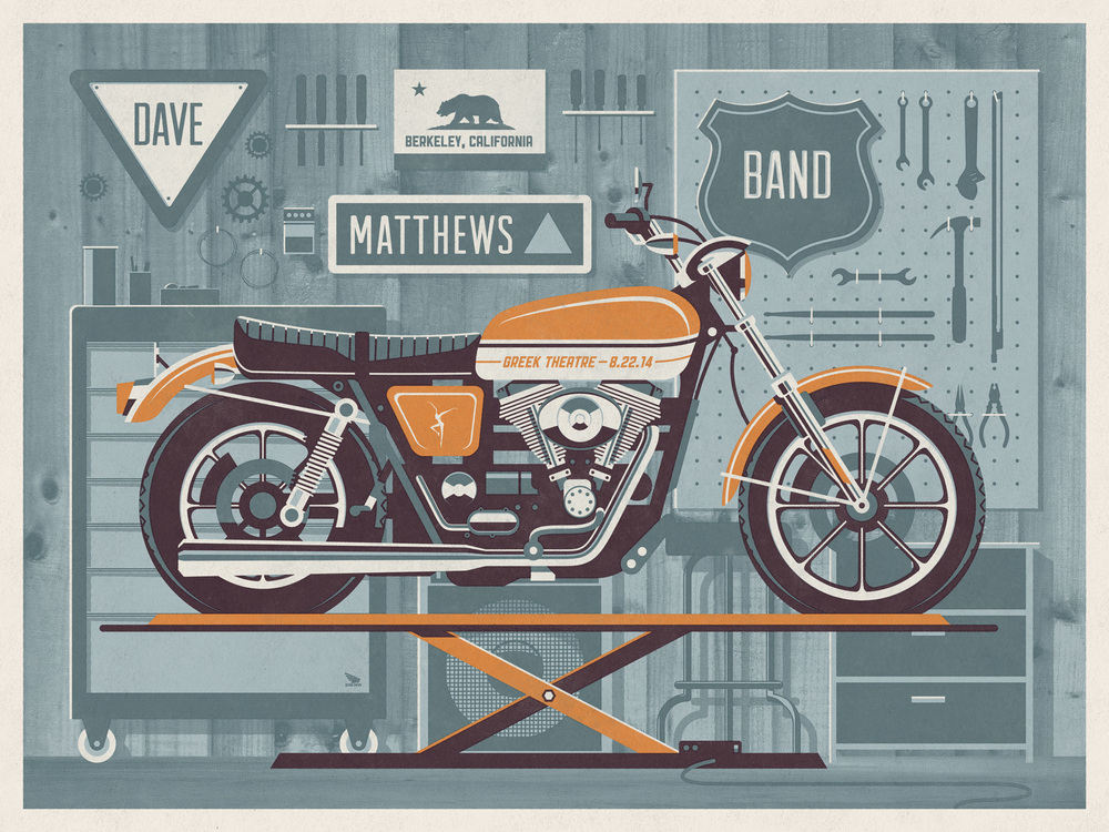 Dave Matthews Band // Berkeley, CA poster by DKNG