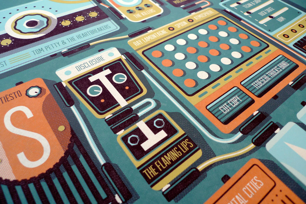 Outside Lands 2014 Official Poster by DKNG