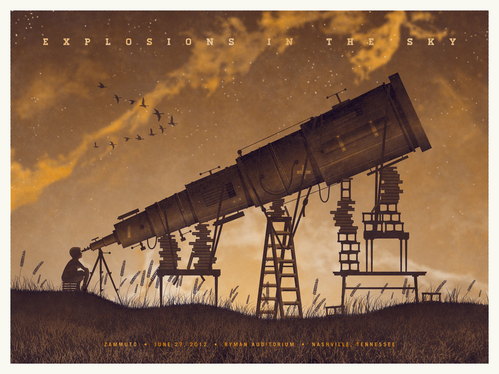 Explosions In The Sky Gig Poster by DKNG