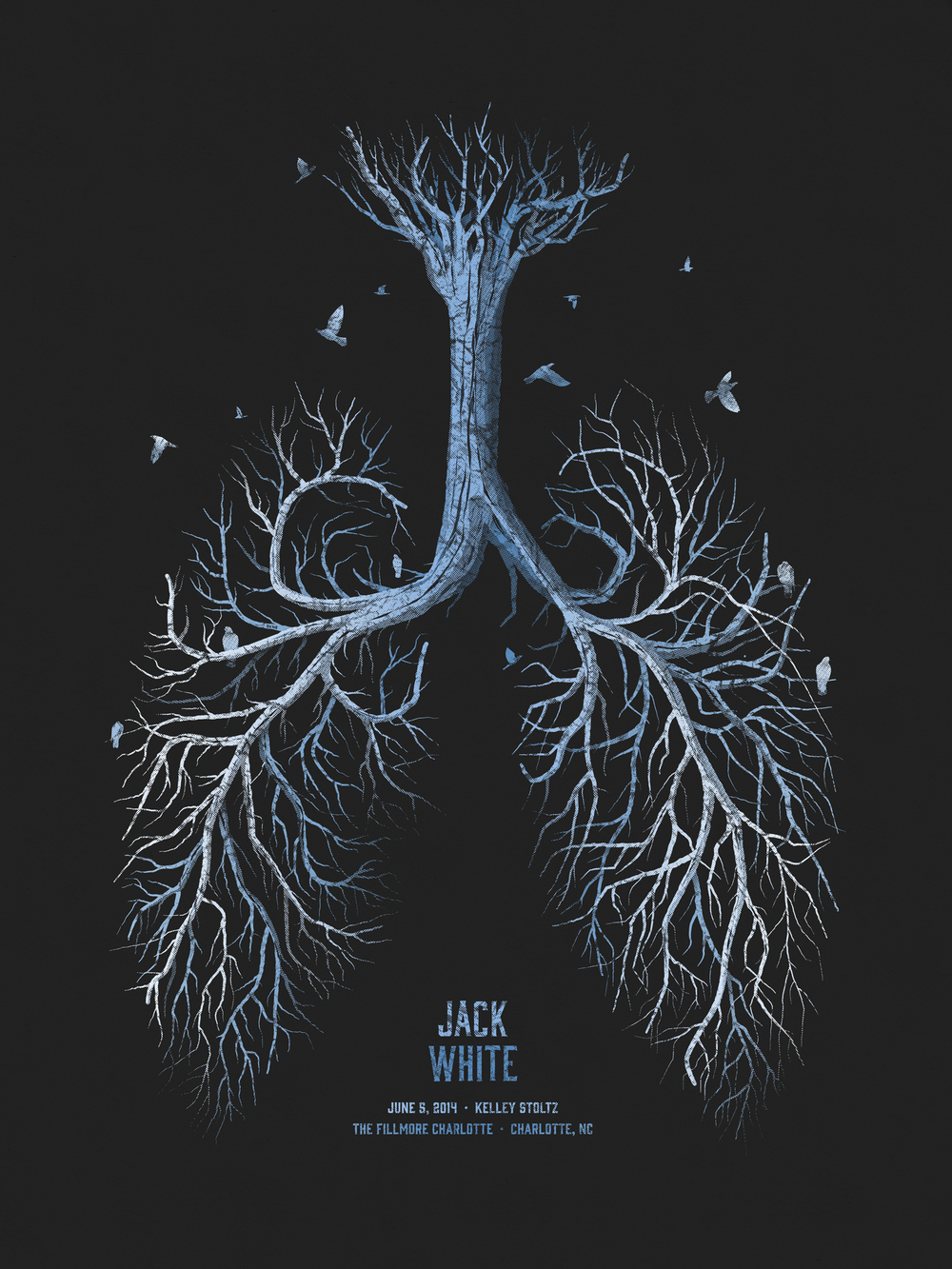 Jack White Gig Poster by DKNG