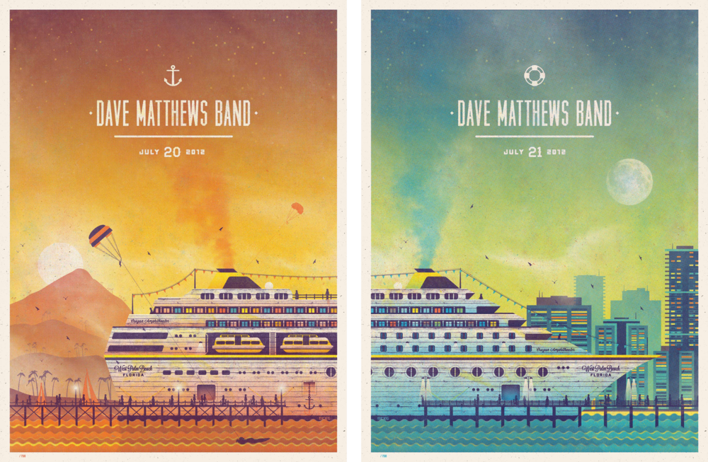 Dave Matthews Band Gig Poster by DKNG